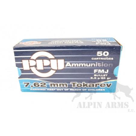 PPU 7,62mm Tokarev FMJ 85gr...