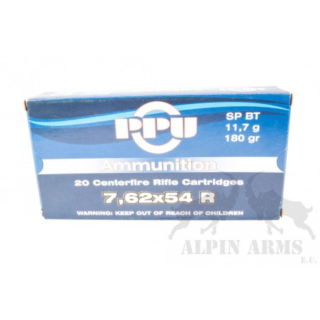 PPU 7,62x54 R SP BT 180gr...