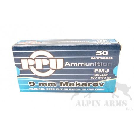 PPU 9mm Makarov FMJ 93gr 50...